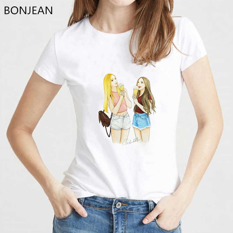 2019 Mùa Hè Tops Đối Với Phụ Nữ t áo sơ mi femme Tốt Nhất Bạn Bè Tv hiển thị in T-Shirt nữ tumblr Harajuku Kawaii áo thun Đồ Họa tees