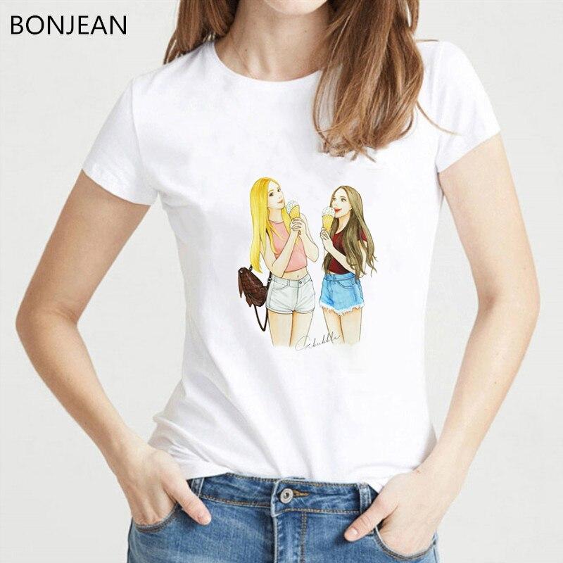 2019 Summer Tops For Women t shirt femme Best Friends Tv show print T-Shirt female tumblr Harajuku Kawaii tshirt Graphic Tees