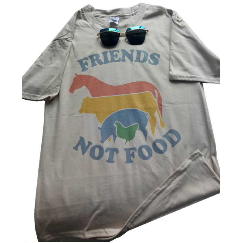 bbd60ff245 ... Hillbilly Friends Not Food Cotton T-shirt Vintage Tshirt Tee Gift for Vegan  Shirt Vegetarian ...