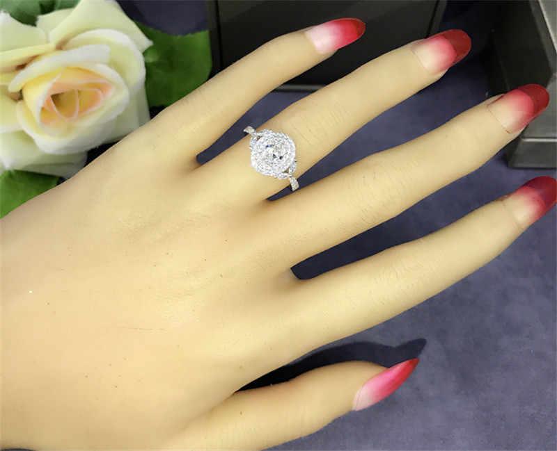 Choucong, ручной работы, подлинное 925 пробы, серебряное цветочное кольцо, ааааа cz, обручальное кольцо, кольца для женщин, ювелирное изделие, подарок