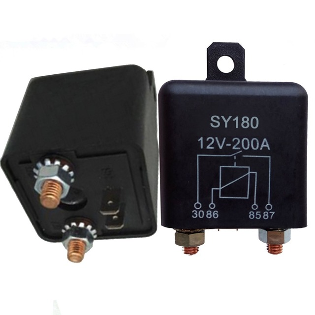 Car Truck Motor Relay 12V 24V 120A 200A 4.8W continuous Automotive Starter Switch Car Relays High Power Contact Load R20