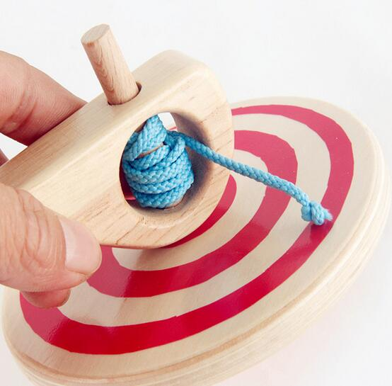 Best Pull Toys For Kids : Baby boys girls toy handle pull wire spinning top children