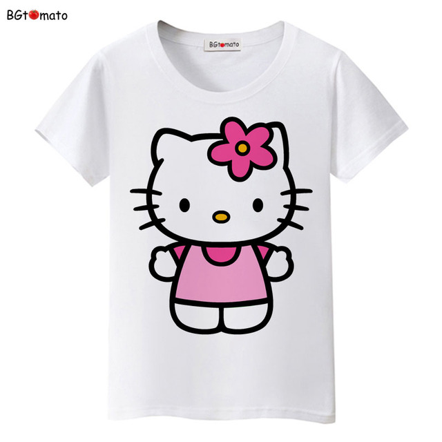 0e5446b384634 BGtomato Hello Kitty lovely cartoon T-shirts women summer cool clothes  Brand Good quality tops comfortable casual shirts