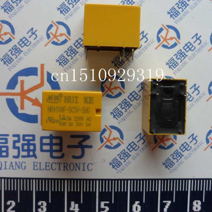 10 PCS HK4100F-DC3V-SHG 3 V 6 kaki sinyal kecil estafet Relay Mini daya estafet 3A 250V  ...