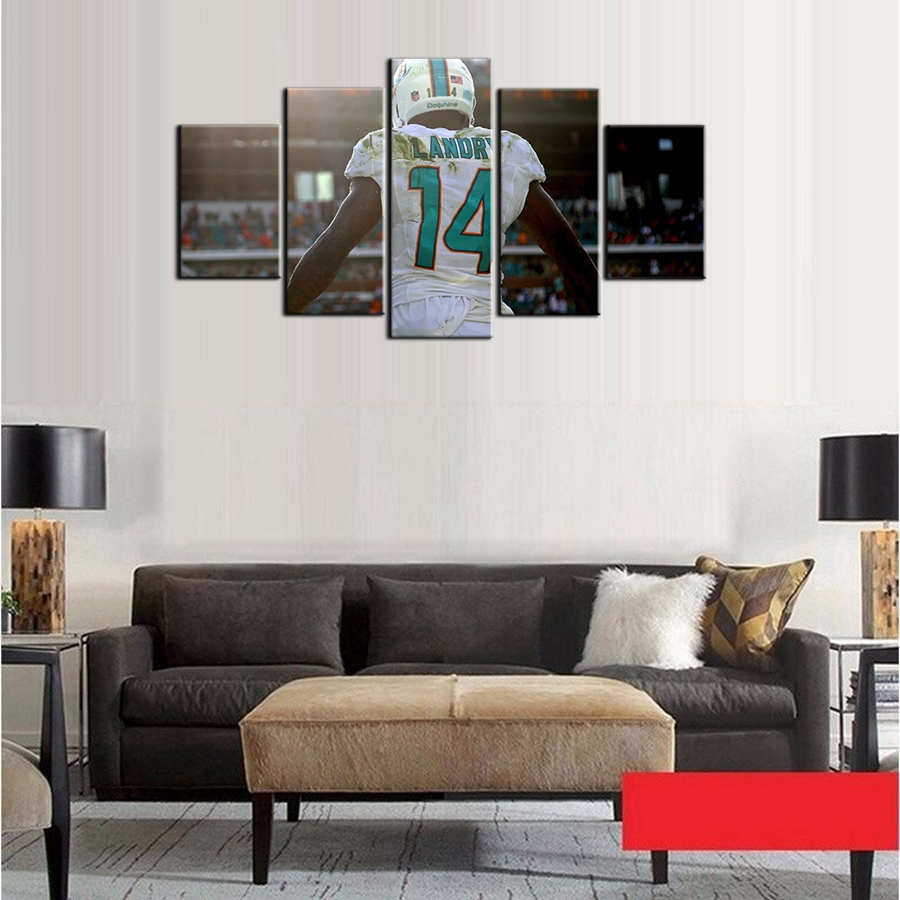 Fashion poster miami dolphins wall art photo for living for Living room wall canvas