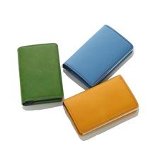 Wholesale Automatic Credit Card Holder Id Holders Aluminum Business ID Slim Case PU Leather Wallet Femal