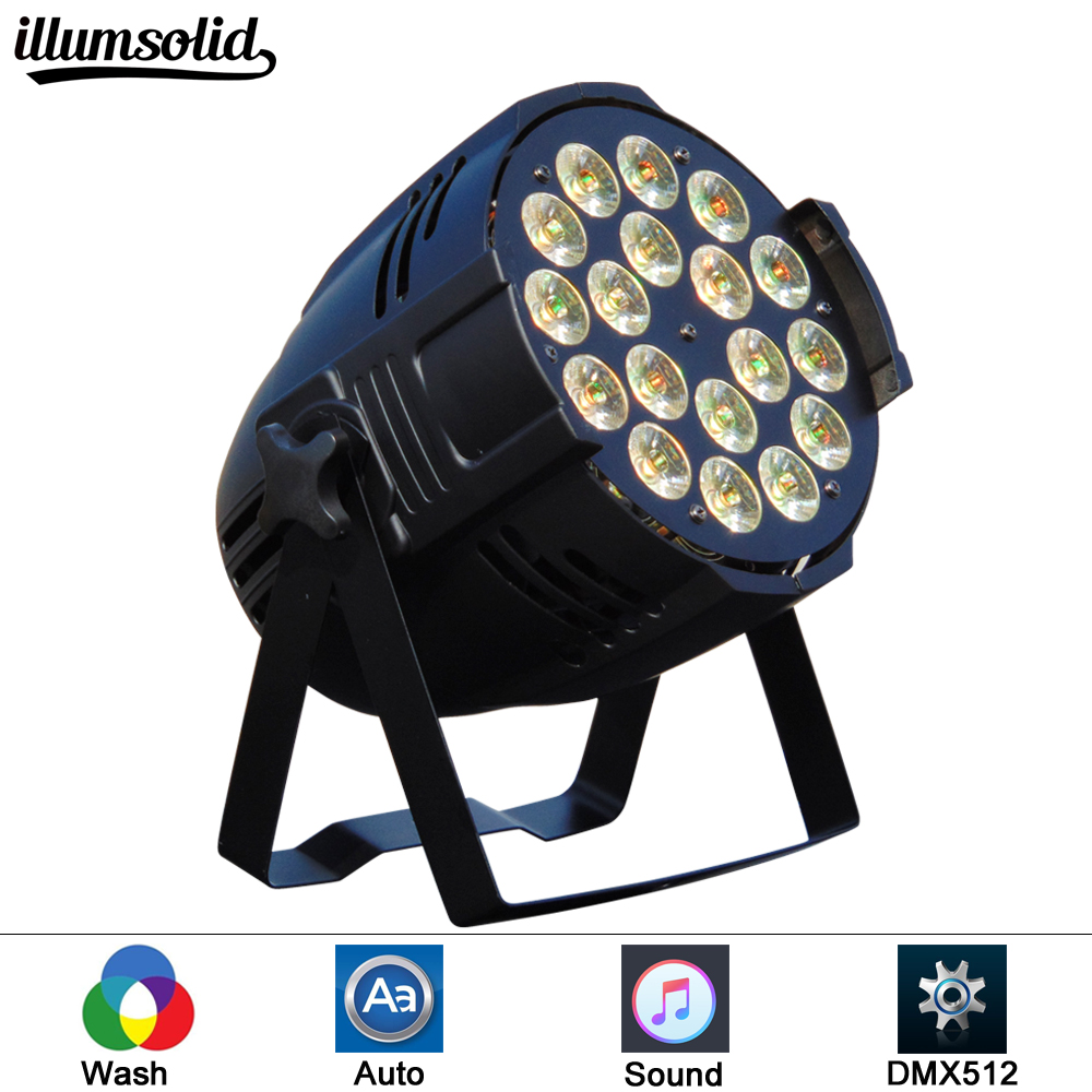 1pcs/lot China Dj Par 18x12W RGBW Led Par Light DMX 512 Club Disco Party Ballroom KTV Bar Wedding DJ