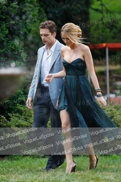 Free shipping wholesale blake lively blue homecoming for Celebrity wedding guest dresses