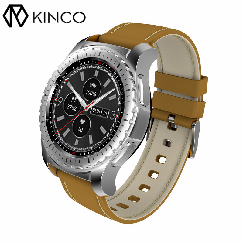 KINCO Heart Rate Sleep Monitor Bluetooth 1.3inch IPS LCD MTK2502 Music Calories Sport Pedometer Smart Watch for IOS/Android microwear l1 smartwatch phone mtk2503 1 3 inch bluetooth smart watch gps heart rate measurement pedometer sleep monitor