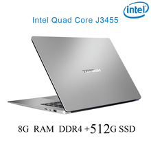 P2-21 8G RAM 512G SSD Intel Celeron J3455 Gaming laptop notebook computer keyboard and OS language available for choose