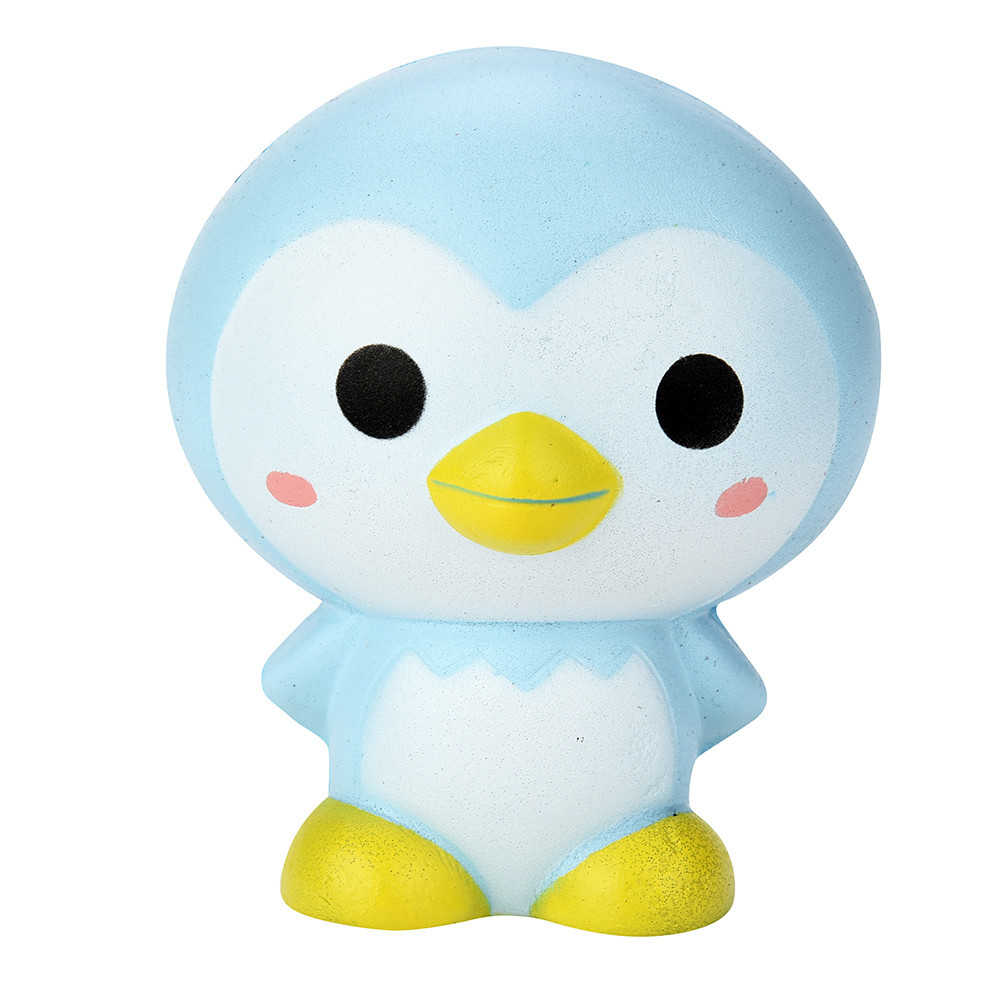 Antistress Elastic Environmentally PU Cat Antistress 9cm Cute Penguin Cartoon Squishy Slow Rising Scented Fun Animal Toys