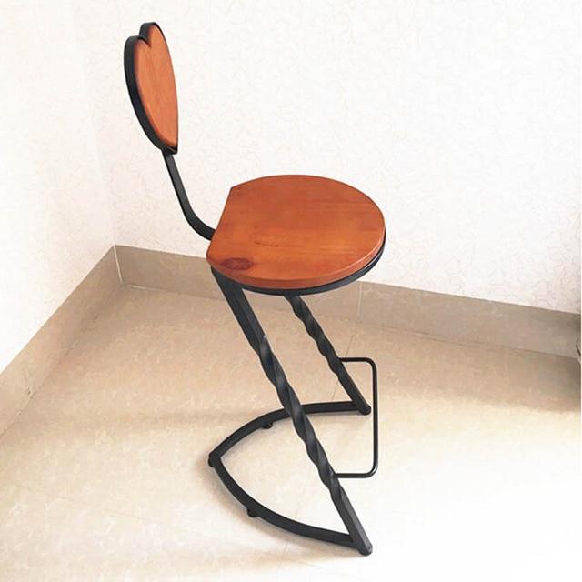 Poly Maple Iron Bar Stool Bar Chair New Bar Stool Chair Heart Shaped  Backrest Can