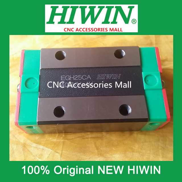 2PCS Original HIWIN EGH25CA slider block EGH25CA for linear rails HGR25 original hiwin rail carriage block hgh25ha hiwin slider block for linear rails hgr25