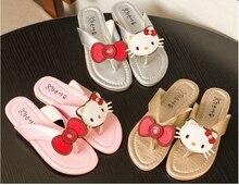 Kids Slippers Girls Summer flip flops Cartoon girls sandals Kids Shoes Cat Princess Sandals Flip Flops
