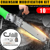 10 Inch Woodworking Chainsaw Bracket Set For 100 Electric Angle Grinder DIY Electric Saw Chainsaw Transfer Conversion Head Set