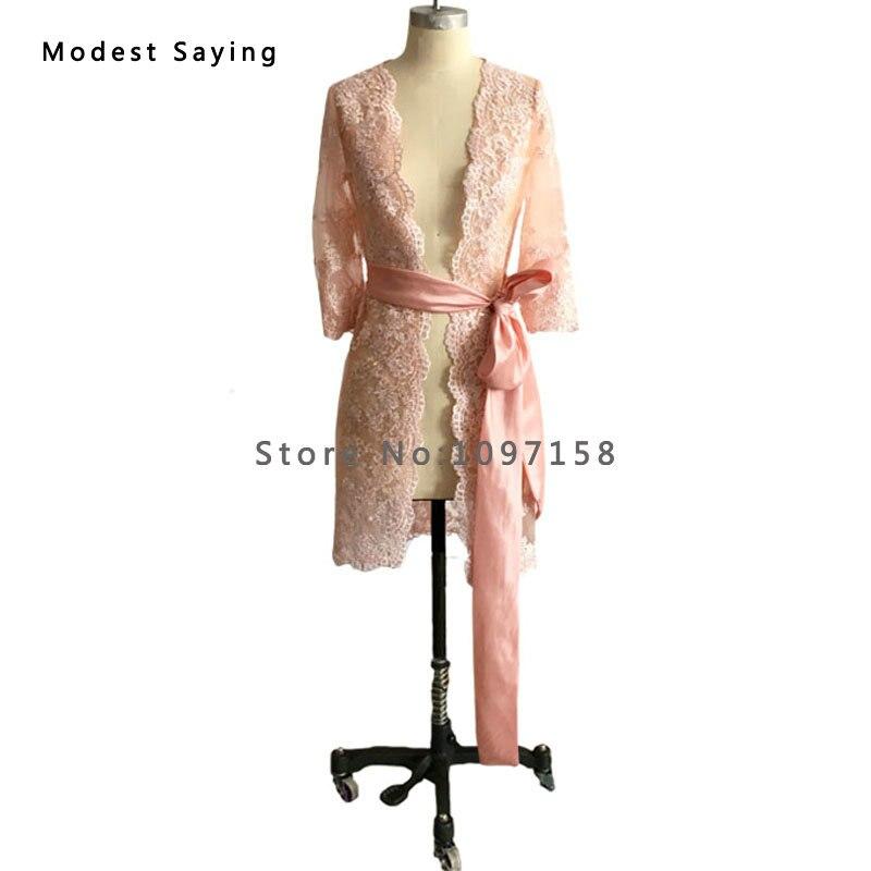 Elegantna Nude Pink Taffeta Majka nevjeste Čipkaste haljine 2017 s - Vjenčanje večernje haljine - Foto 2