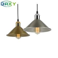 E27 Black Silver Golden Shade Coniform Pendant Lamp Post-modern&Vintage Dining Room Clothes Shop Hanging LightS For Deco[D8325]