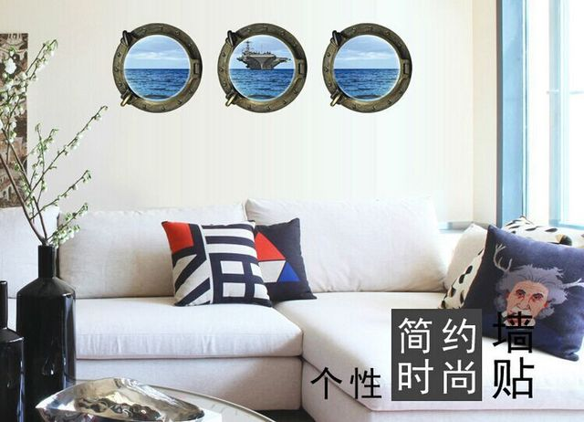 Marine Aircraft Carrier Decals 3D Wall Stickers Home Decor For Kids ...