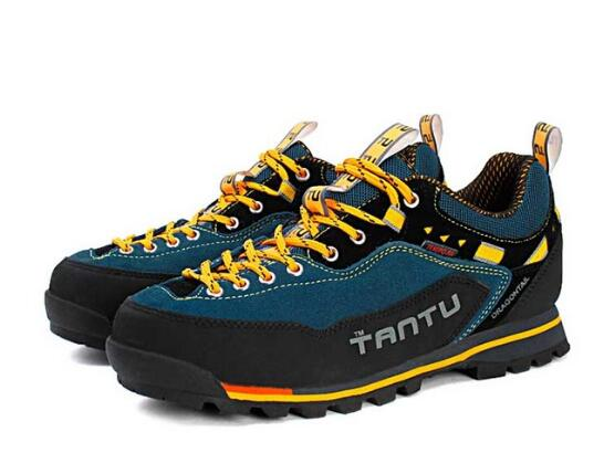 TANTU Men outdoor hiking shoes male genuine leather breathable waterproof non-slip sneakers men walking trekking climbing shoesTANTU Men outdoor hiking shoes male genuine leather breathable waterproof non-slip sneakers men walking trekking climbing shoes