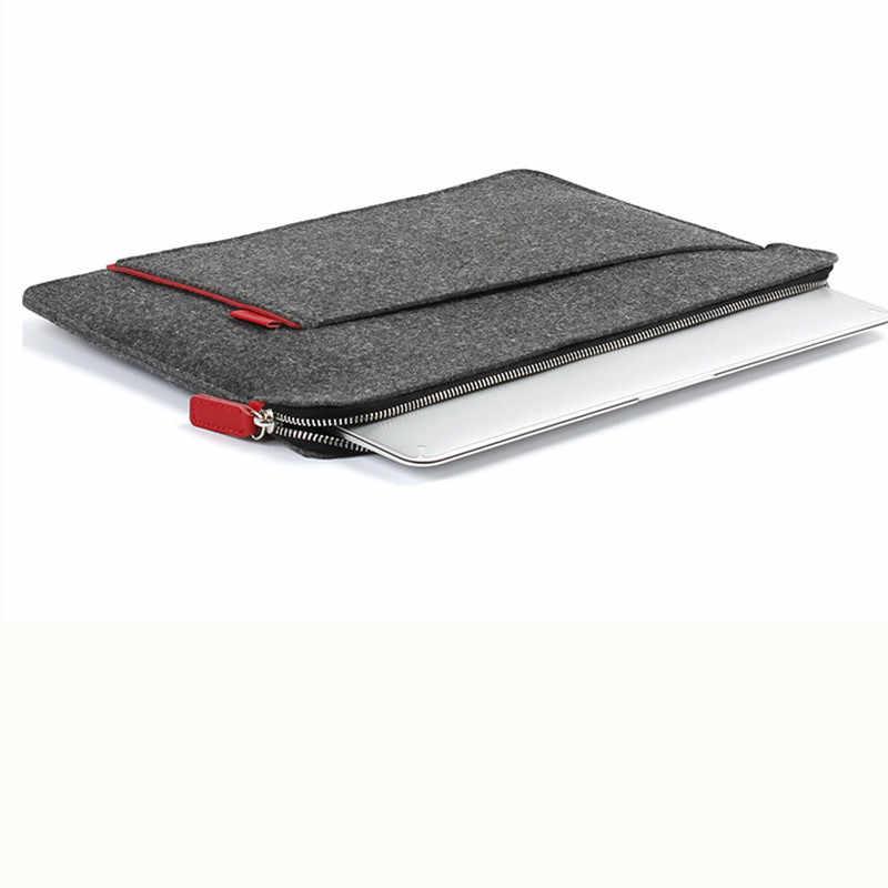 2019 funda de fieltro para ordenador portátil 15,6 funda para Macbook Air 13 Pro Retina 11 12 Nueva barra táctil 15 para xiaomi mi portátil de 13,3 cubierta