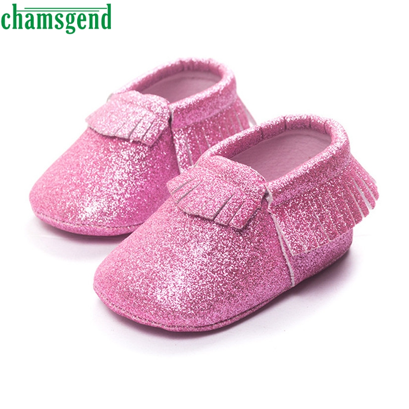 CHAMSGEND Best Seller Baby Crib Tassels Sequins Shoes Toddler Soft Sole Sneakers Casual Shoes for 0-2M S35