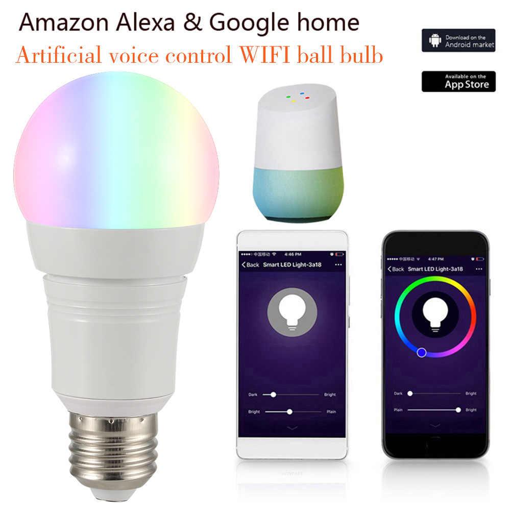 E27/B22/E14 WiFi умный светодиодный светильник лампа 16 миллионов цветов для Google Home Amazon Alexa LB88