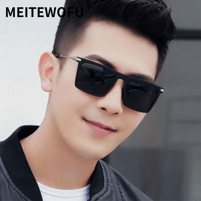 MEITEWOFU new Classic Square Sunglasses Men Women Designer Vintage Driving Goggle Mirror Male Sun Glasses oculos de sol feminino in Men 39 s Sunglasses from Apparel Accessories