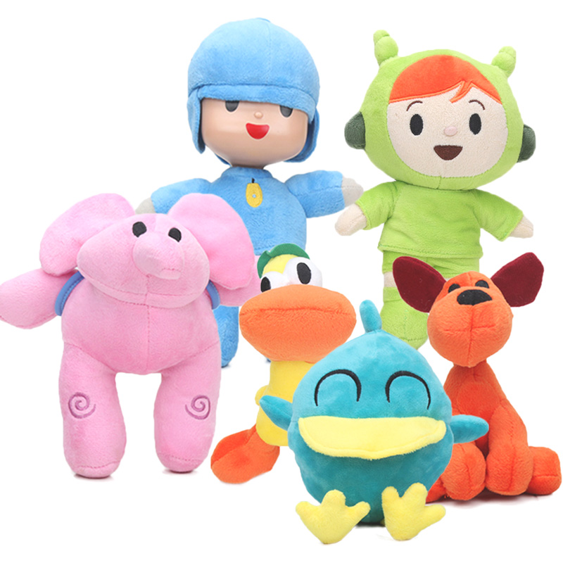 6pcs 12-26cm Pocoyo Toys Pocoyo Elly Pato Loula Plush Doll Pocoyo Dog Duck Elephant Soft Stufffed Animal Doll Toy Party Supplies