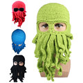 Octopus Pattern Beanies Winter Warm Knitted Wool Ski Face Mask Knit Hat Squid Cap
