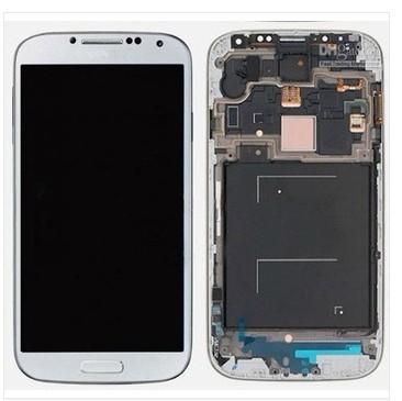 LCD Display touch Screen For Samsung Galaxy S4 i9505 i9500 LCD Digitizer Assembly with frame - Dark Blue/White