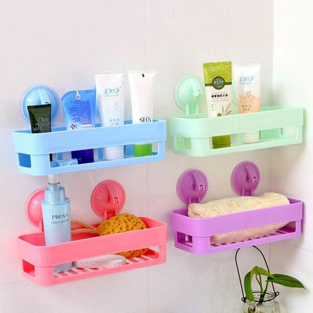 4colors Kitchen Bathroom Storage Holders Racks Super Vacuum Double Er Leakage Soap Dish Tank Set