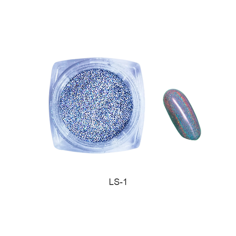 Image 5 - 1g  Holo Nail Art Glitter Extra Fine holographic Nail Glitter Dust  Nails Polish Powder Manicure Nail Accessories-in Nail Glitter from Beauty & Health