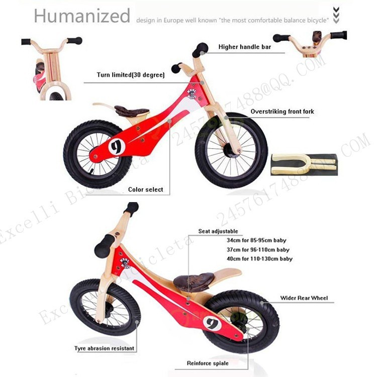 b02-Baby two wheels Wood Balance Bike for 2-6 Years age Bicicleta Infantil Balance Bike Kid's bicycle Common Childen's Cycling