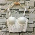P218 nuevo 2016 Summer Sexy suave básica Spandex Push Up Bra Bralet mujeres de sujetador Bustier recortada chaleco superior blusas de talla grande