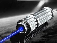 Cheaper USB High Power Blue Laser Pointer 200000mW 450nm Flashlight Lazer Pen Light Adjustable Focus Burning Match Lit Cigarette+5 Caps