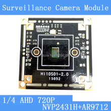 1MegaPixel 1280*720 AHD CCTV Camera Module Circuit Board , 1/4″ CMOS NVP2431H+ AR9712 PCB Board PAL / NTSC Optional