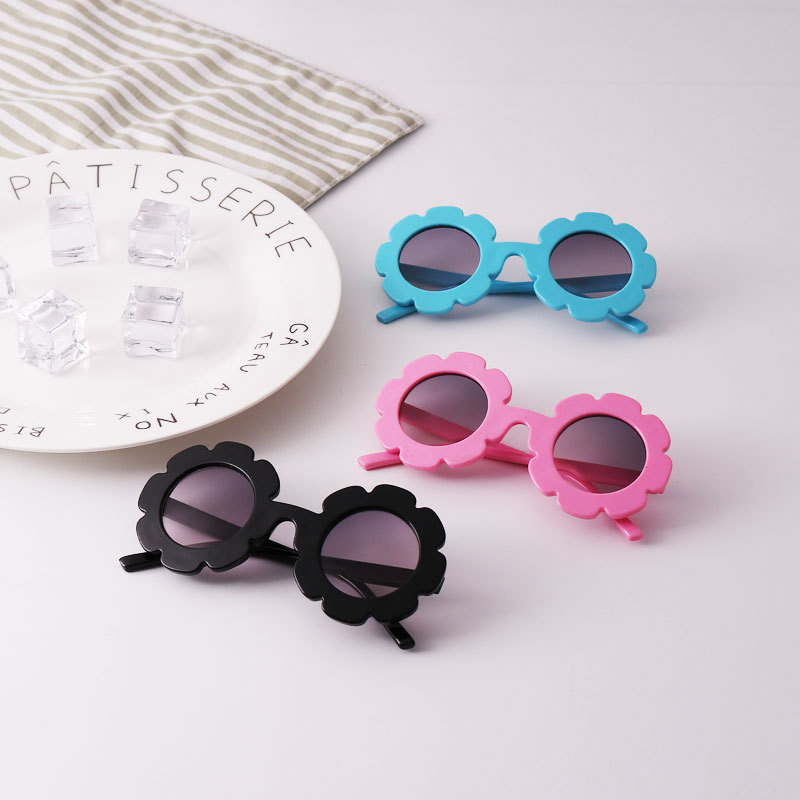 Anti-UV Sunglasses Kids Boys Baby Girls Plastic Sun Flower Glasses Eyewear