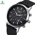 North reloj de los hombres de marca de moda de lujo hombre reloj 30 m impermeable reloj deportivo relojes de cuarzo de negocios de cuero genuino informal