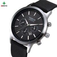 NORTH Men Watch Luxury Brand Fashion Male Wristwatch 30M Waterproof Sport Watch Casual Genuine Leather Quartz
