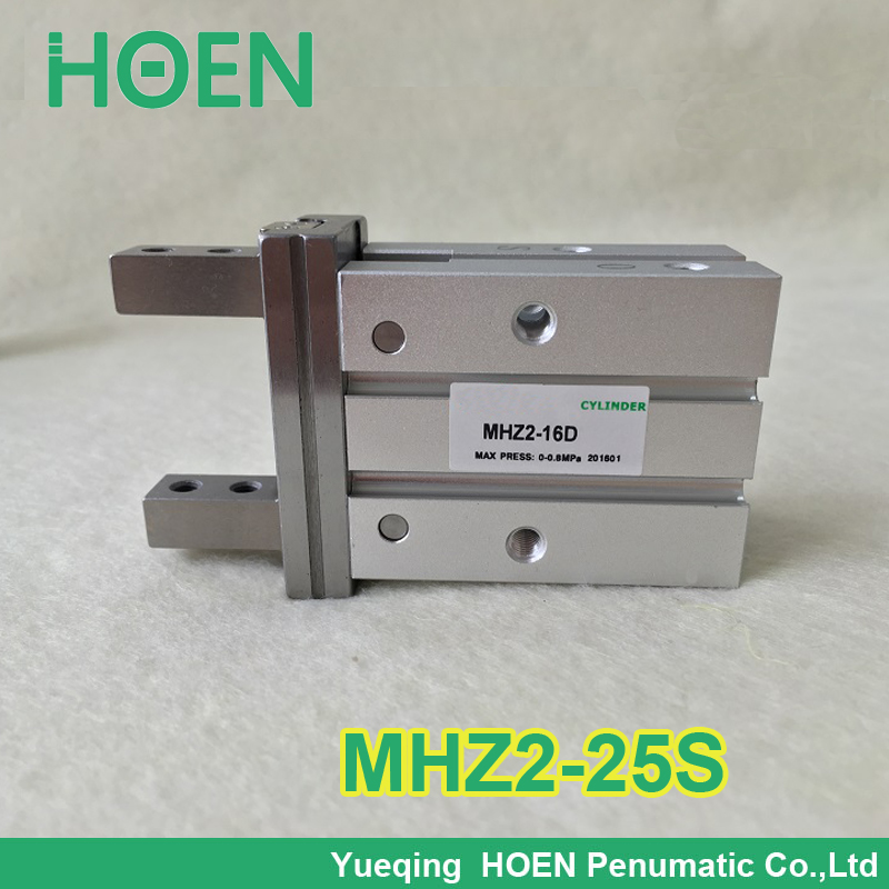 High quality Single acting normally open mini gripper pneumatic finger cylinder MHZ2-25S SMC type aluminium air clamps high quality double acting pneumatic robot gripper air cylinder mhc2 25d smc type angular style aluminium clamps