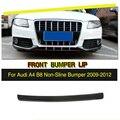 Углеродное волокно передний бампер для автомобиля спойлер разветвитель головы подбородок губ для Audi A4 B8 стандартный бампер только без лини...