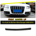 Carbon Fiber Car Front Bumper Lip Spoiler Splitter Kopf Kinn Lip für Audi A4 B8 Standard Stoßstange Nur Nicht  sline 2009 2012-in Stoßstangen aus Kraftfahrzeuge und Motorräder bei
