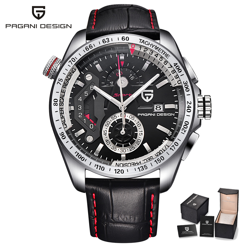 2017 Luxury Brand Men Watches PAGANI DESIGN Quartz Wristwatch Male Chronograph Sports Business Wrist Watch Relogio