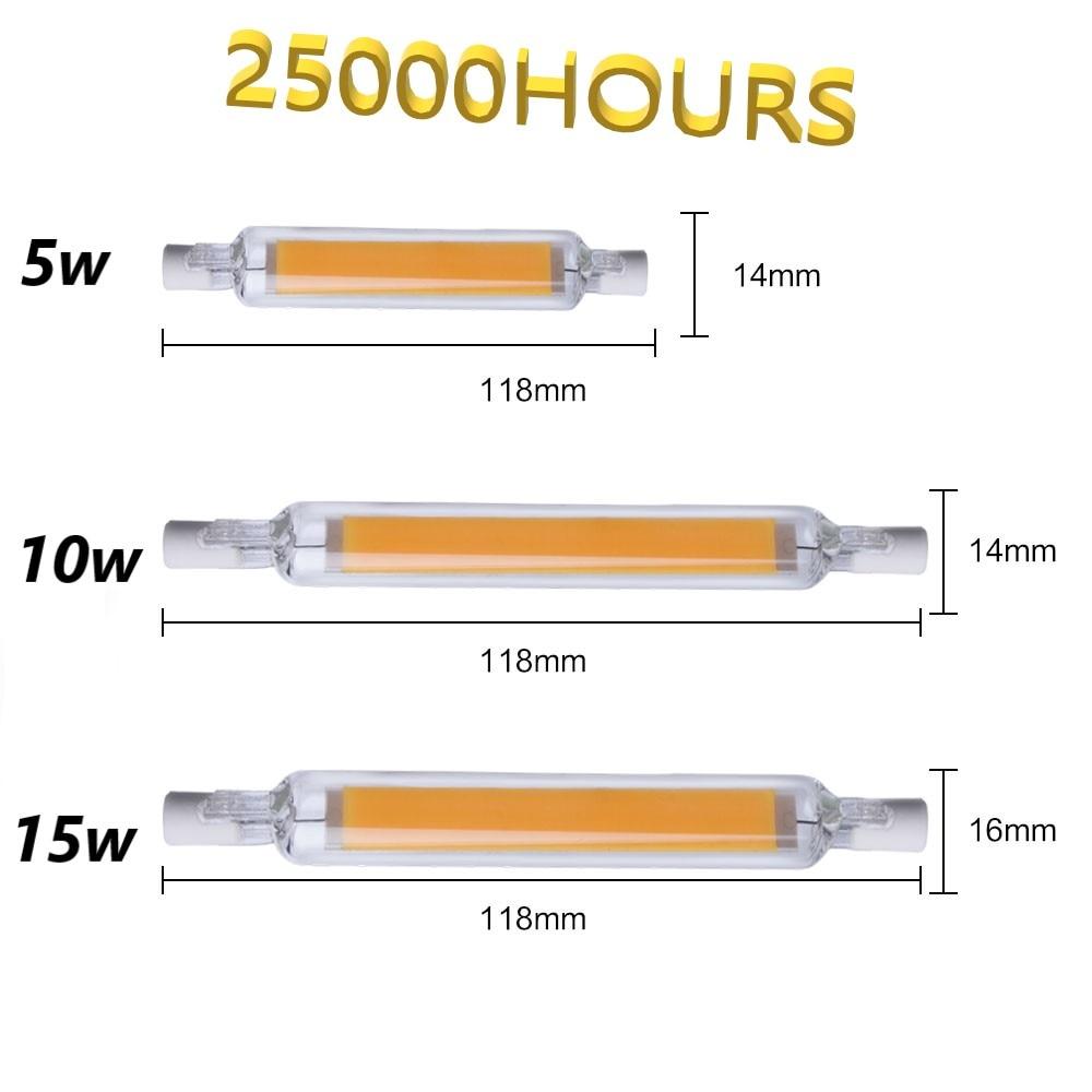 R7s Led Light Bulb Tube Light 220V Led Lamp 220V 5W 10W 15W Smart Tube Light Bulb 118mm 78mm Led R7s Smart House Living Room Bar