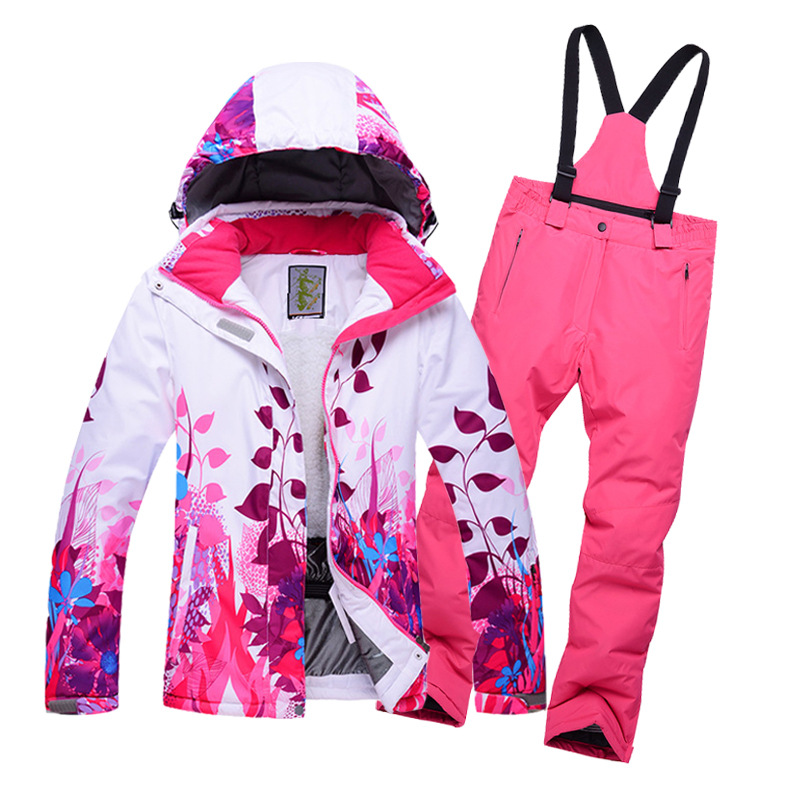 Mioigee 2018 Children's Clothing Winter Sports Suit for Girls Ski Jacket Pants 2pcs Sets Boys Ski Sports Winter Suit Thicker sticker winter sports
