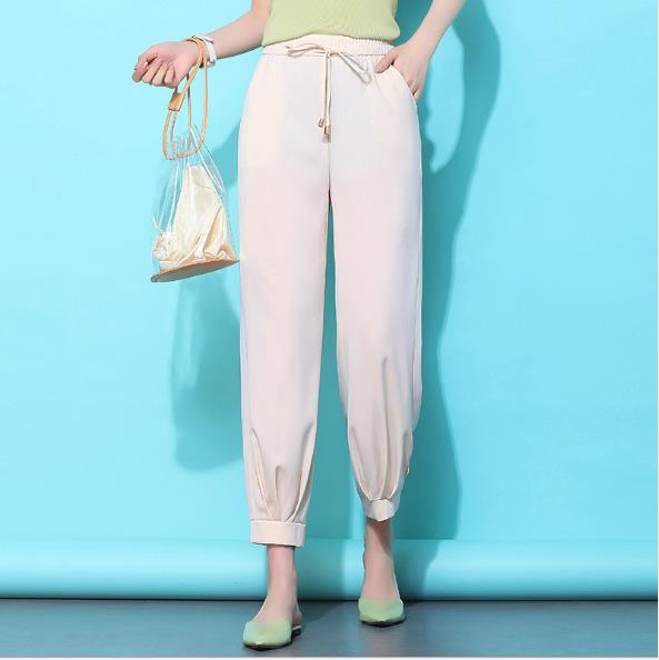 Black Casual Pants Women Harem Striped Pants For Women Pantalon Femme <font><b>Pantalones</b></font> <font><b>Mujer</b></font> Cintura Alta Trousers Female 3XL <font><b>4XL</b></font> image