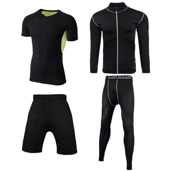 Men Sportswear Compression Sport Suits Quick Dry Running Sets Clothes Sports Joggers Training Gym Fitness Tracksuits Running Set 28