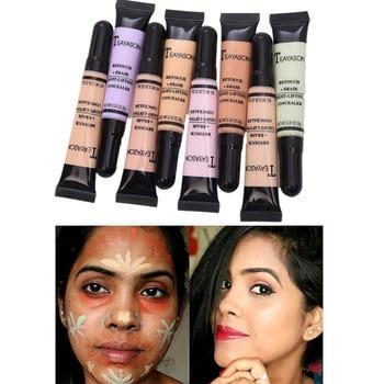 8 couleurs Visage Cosmétiques Anti-cernes Liquide Fondation Contour Base Maquillage D'huile de contrôle de Blanchiment Hydratant Pleine Couverture Crème