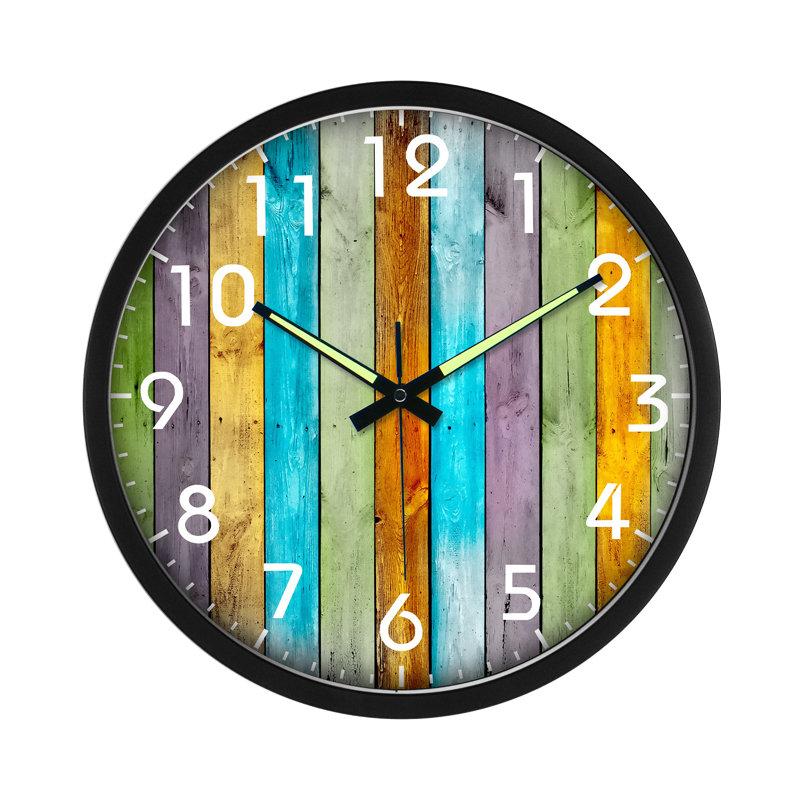 2017 nouvelle horloge murale en métal européen lumineux numérique muet verre vivant mode style méditerranéen Art horloge chambre WITFAMILY