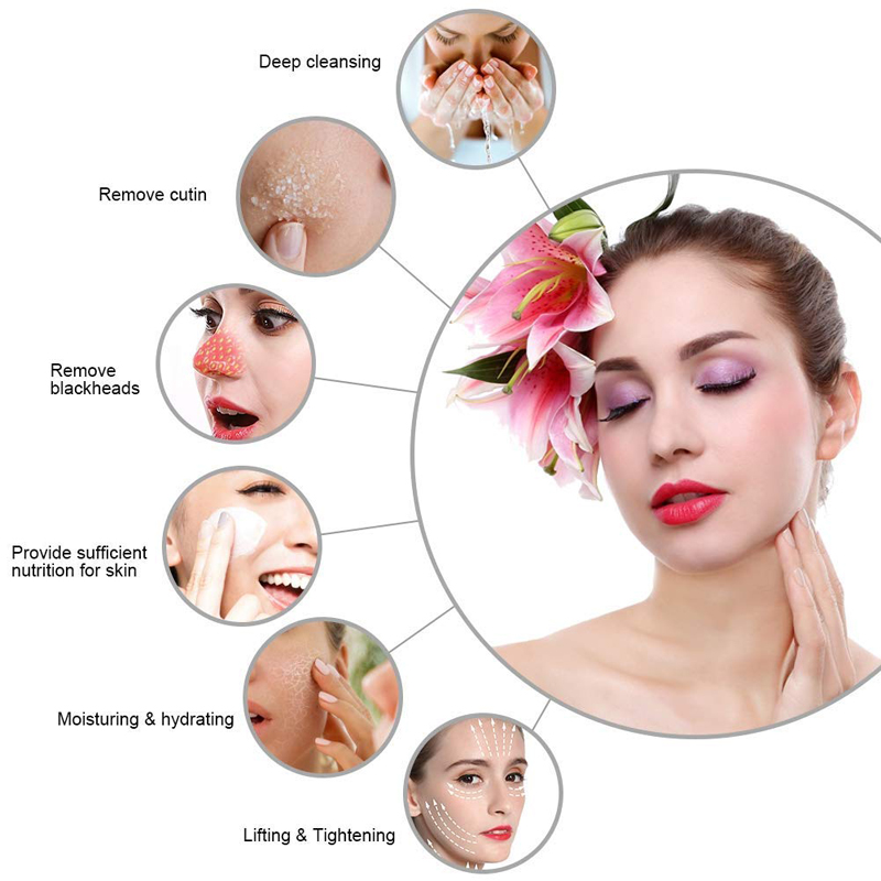 Small Bubble Oxygen & Water Jet Peel Hydro Facial Machine -Facial Cleaning Blackhead Acne Keep of The Skin Beauty